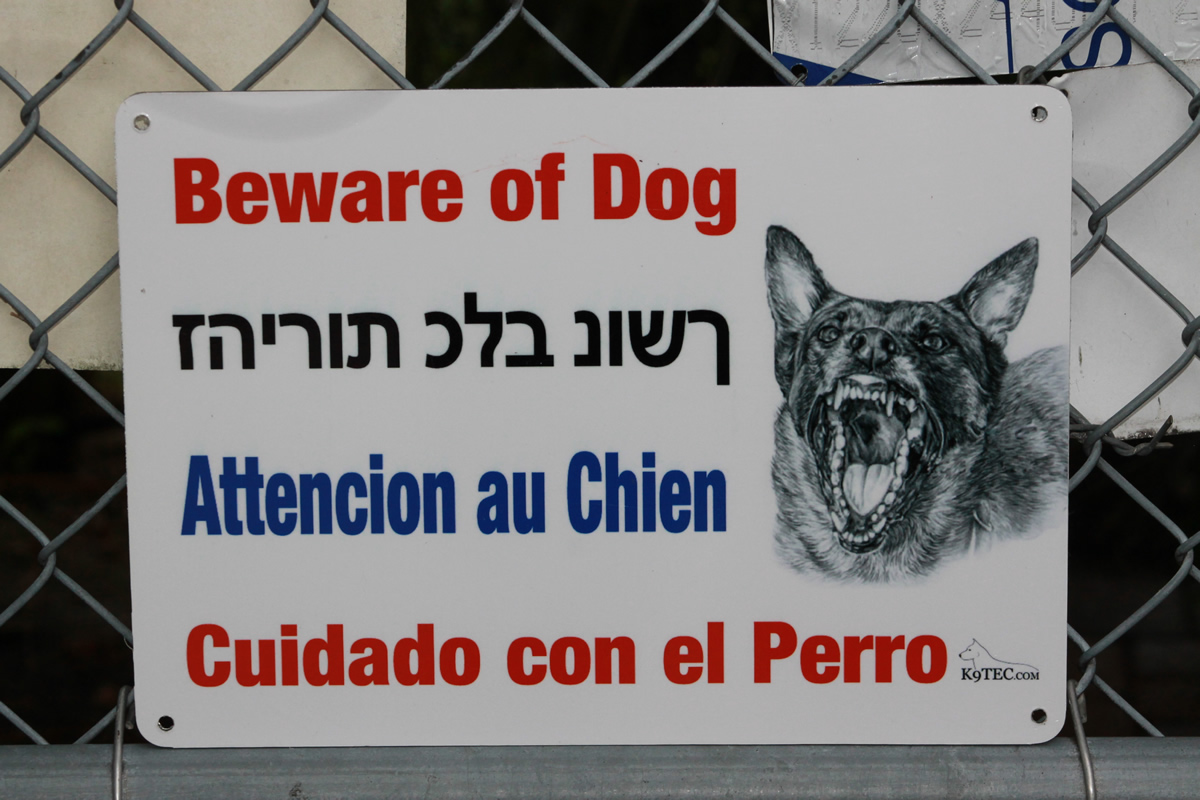 Beware of dog signs for home