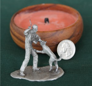 Pewter Figurine k9